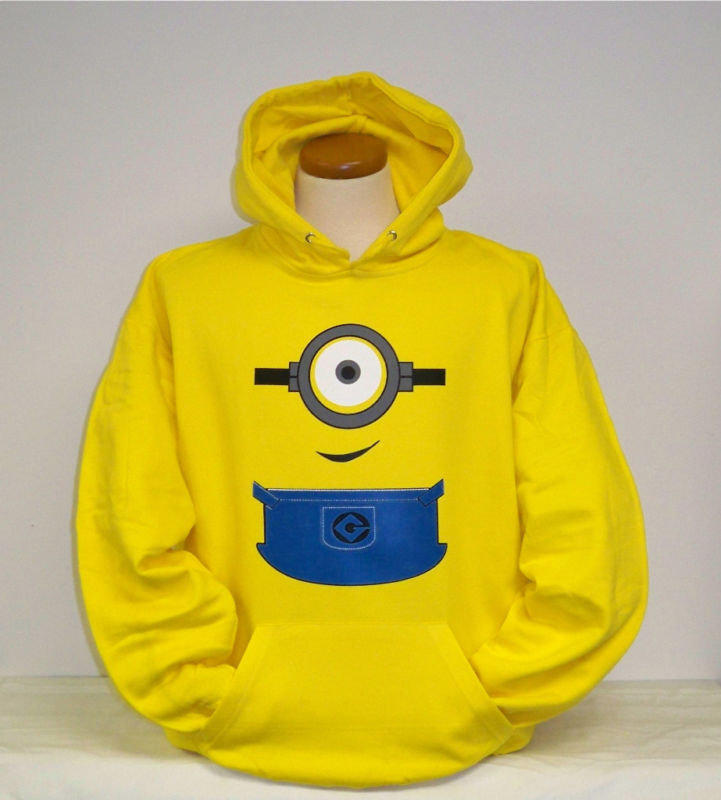 Despicable me minion clothing hoodie from levis786 on ebay for Minion clothespins