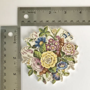 Fancy Cut Focal Mosaic Tile Supply, Mosaic Craft Supplies Floral Vintage China, Shabby Chic Craft Supplies