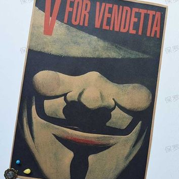 V For Vendetta Movie Vintage Paper Wall Poster House Art Decor posters for walls wall sticker