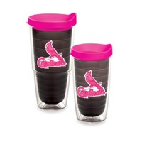 Tervis® MLB St. Louis Cardinals Emblem Tumbler with Lid in Quartz/Neon Pink