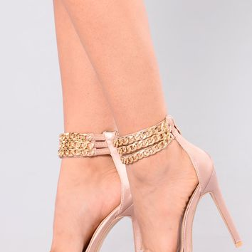 Cherry Chain Heel - Nude