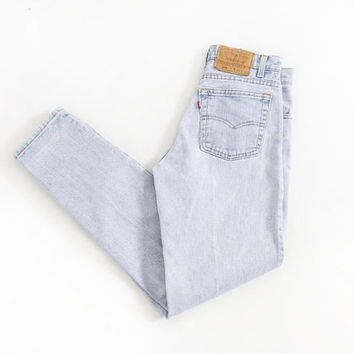 """Vintage Levi's 550 JEANS - Cotton Denim Relaxed Fit Tapered Leg High Waist Mom Jeans 1990s - 29"""" x 30"""" Medium / Small"""