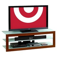 """Techini Mobili Frosted Glass TV Stand - Mahogany(65"""")"""