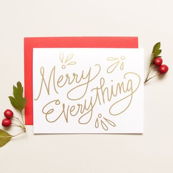 Foil Merry Everything Holiday Card