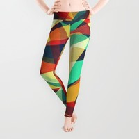 Broken Rainbow Leggings by VessDSign