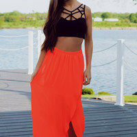 Breezy Beautiful Maxi Skirt - Crimson