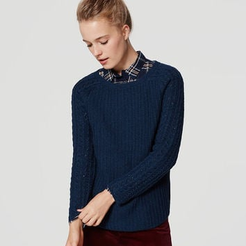 Cable Sleeve Sweater | LOFT
