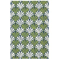 Summer Deco Green and Blue Outdoor Rug On Sale