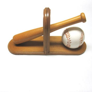 Baseball Bookends Bat Ball Childrens Room Decor Kids Books