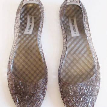 Vintage 1990's Steve Madden Clear Jelly Shoes