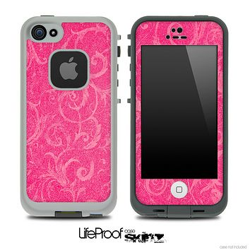 Subtle Pink Lace Pattern Skin for the iPhone 5 or 4/4s LifeProof Case
