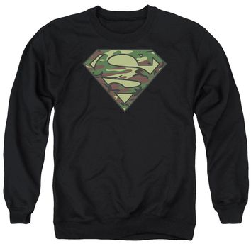 Superman - Camo Logo Adult Crewneck Sweatshirt Officially Licensed Apparel