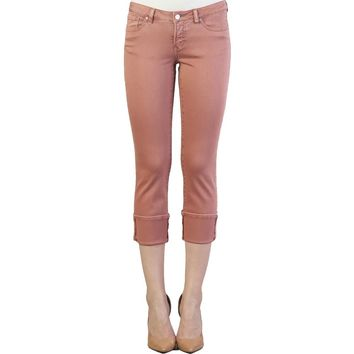 Playback Cuffed Straight Leg In Crimson Glow By Dear John Denim