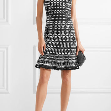 Hervé Léger - Stretch jacquard-knit mini dress