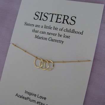 S I T E R Necklace GOLD Eternity Circle 30th B