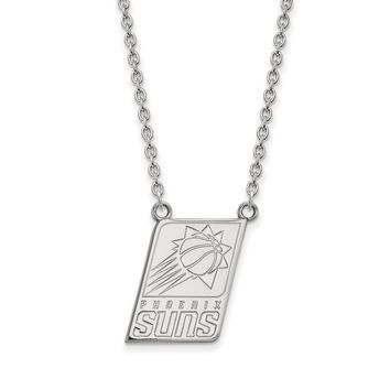 NBA Phoenix Suns Large Pendant Necklace in 10k White Gold - 18 Inch