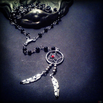 Dream Catcher Rosary Necklace by TrueBlueDryGoods on Etsy