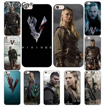 MaiYaCa vikings serie 4 phone Cases for iphone 7 7Plus Soft silicone Case For iphone X 6 6s 6Plus 6splus 8 8plus back cover