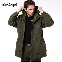 Men's Army Camouflage Jacket Military Tactical Jacket Winter Windbreaker
