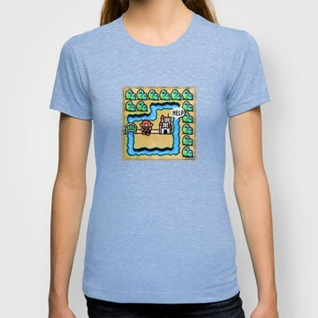 Super Mario 3 Level 1 T-shirt by Likelikes