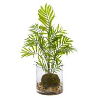 Artificial Plant -Mini Areca Palm Plant with Vase