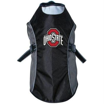 DCCKT9W Ohio State Buckeyes Water Resistant Reflective Pet Jacket