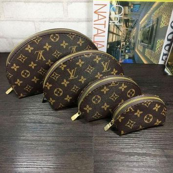 ONETOW Tagre? LV Louis Vuitton Cosmetic Bags For Accessories Travel Storage Cosmetic Bag Four Piece Suit