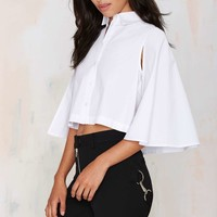 Fly Blind Cape Crop Top