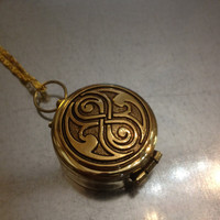Gold Plated Infinity Seal Compass Necklace