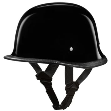 D.O.T. German Helmet - Hi-Gloss Black