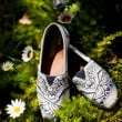 Custom Handpainted TOMS with Tibetan Design by alymf on Etsy