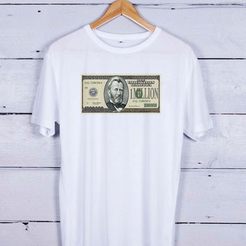 Dollar Bill 1Million Tshirt T-shirt Tees Tee Men Women Unisex Adults