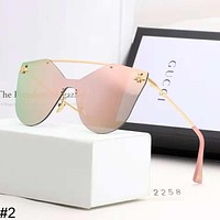 GUCCI 2018 new bee couple models large frame color film polarized sunglasses #2