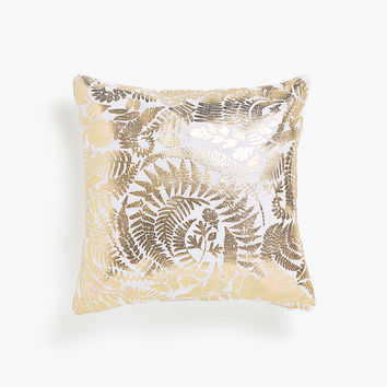 Fern print cushion cover - Throw Pillows - BEDROOM | Zara Home United States of America