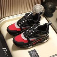 DIOR Black/Red Men Women Fashion Casual Sports Shoes Size 36-45
