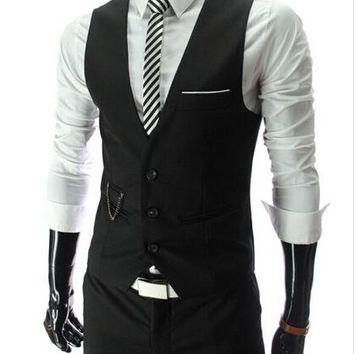 2018 New Arrival Men's Slim Fit Dress Vests