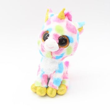 6'' 15cm Ty Beanie Boos Stuffed Animals & Plush Unicorn Toys Big Eyes Kawaii Gift for Baby Girls Boys Birthday Present