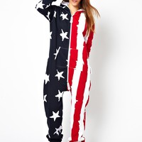 OnePiece | Onepiece Stars and Stripes Onesuit at ASOS