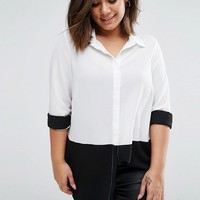 New Look Plus Color Block Shirt at asos.com