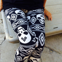 Dilarah Skull Leggings - One
