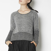 Reversible Cropped Sweater