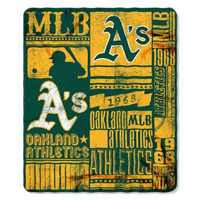 Oakland Athletics 50x60 Fleece Blanket - Strength Design