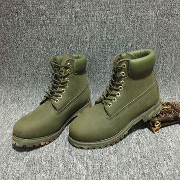 DCCKBE6 Timberland Rhubarb Boots 10061 Camouflage  Waterproof Martin Boots
