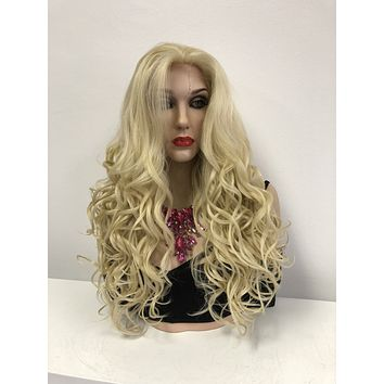 Blond Swiss Full Lace Wig | Long Curly Soft Layered Hair | Pierre