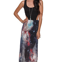 LA Hearts Cosmic Mixed Fab Maxi Dress at PacSun.com