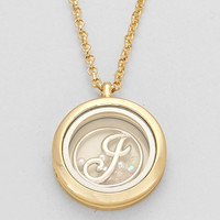 "Floating Monogram ""J"" Necklace Gold"