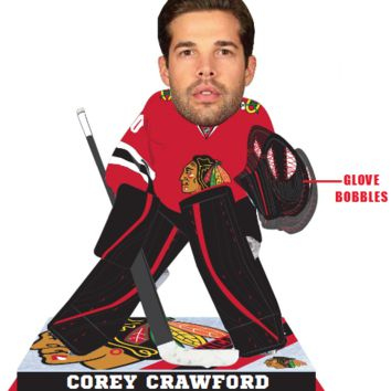 Corey Crawford Chicago Blackhawks 2016 NHL Goalie Bobblehead Forever Collectibles