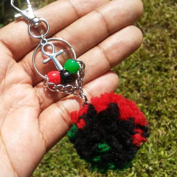 Ankh Keychain, bag charm, Africa accessories