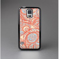 The Coral Abstract Pattern V34 Skin-Sert Case for the Samsung Galaxy S5