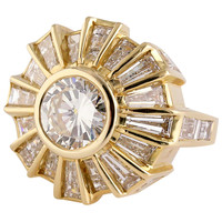 Bulgari Diamond Gold Cocktail Ring